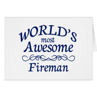 World's Most Awesome Fireman Cards