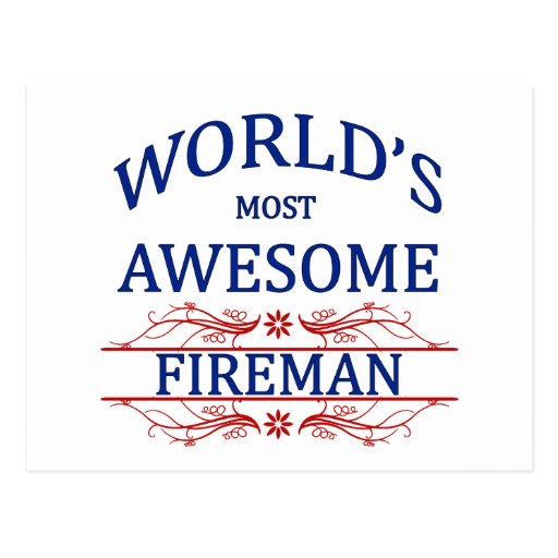 World's Most Awesome Fireman Post Cards