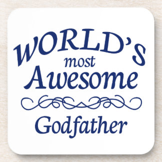 World's Most Awesome Godfather Beverage Coasters