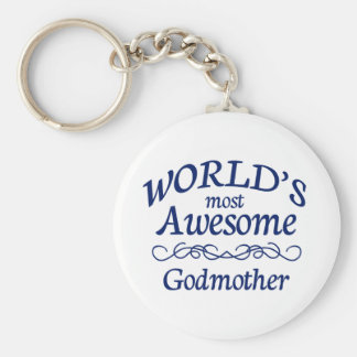 World's Most Awesome Godmother Key Ring
