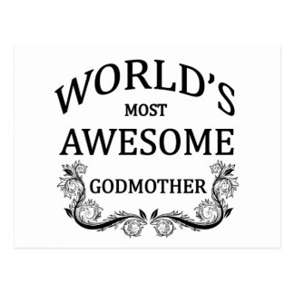 World's Most Awesome Godmother Postcard