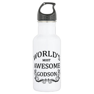 World's Most Awesome Godson 532 Ml Water Bottle