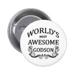 World's Most Awesome Godson Pin