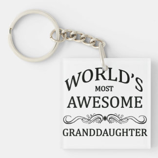 World's Most Awesome Granddaughter Key Ring