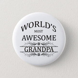 World's Most Awesome Grandpa 6 Cm Round Badge