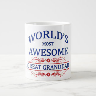 World's Most Awesome Great Granddad Jumbo Mug
