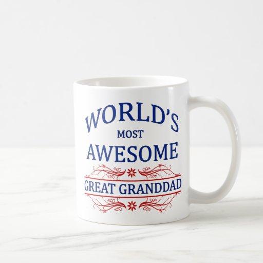 World's Most Awesome Great Granddad Mug