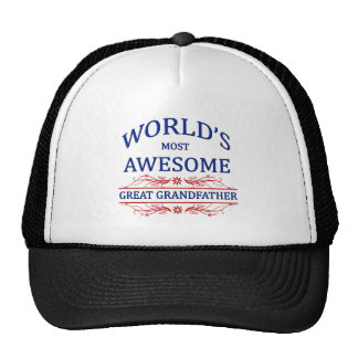 World's Most Awesome Great Grandfather Cap