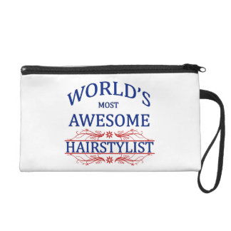 World's Most Awesome Hairstylist Wristlet Purse