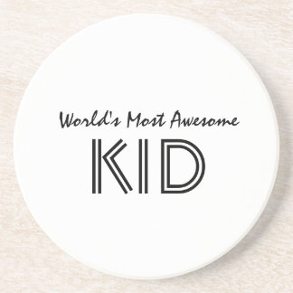 World's Most Awesome KID Drink Coaster