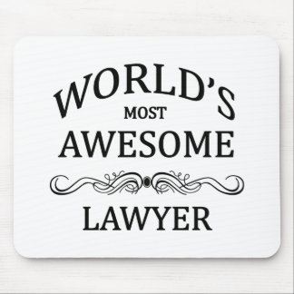 World's Most Awesome Lawyer Mouse Pad