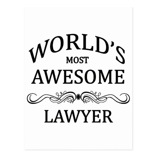 World's Most Awesome Lawyer Post Cards