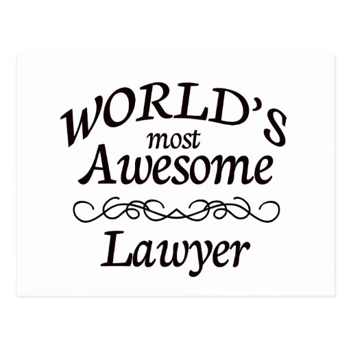 World's Most Awesome Lawyer Postcard