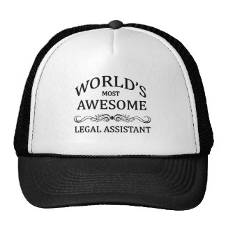 World's Most Awesome Legal Assistant Cap