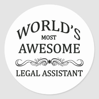 World's Most Awesome Legal Assistant Round Sticker