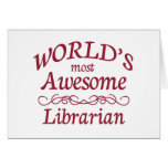 World's Most Awesome Librarian Card