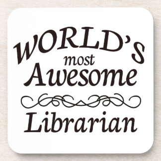 World's Most Awesome Librarian Coaster