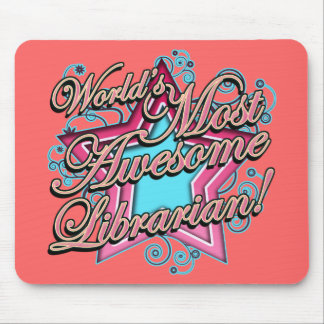 Worlds Most Awesome Librarian Mousepads