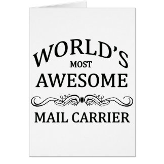 World's Most Awesome Mail Carrier Card