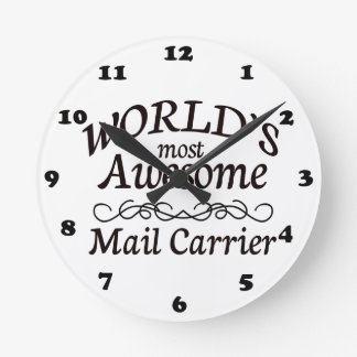 World's Most Awesome Mail Carrier Wall Clocks
