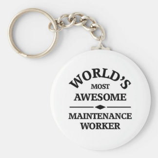 World's most awesome Maintenance Worker Key Ring