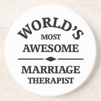 World's most awesome Marriage Therapist Drink Coasters