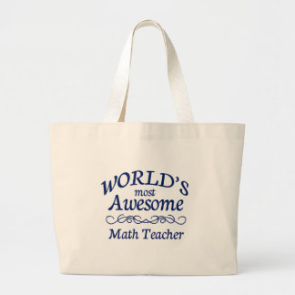 World's Most Awesome Math Teacher Jumbo Tote Bag