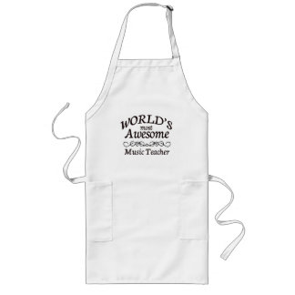 World's Most Awesome Music Teacher Apron