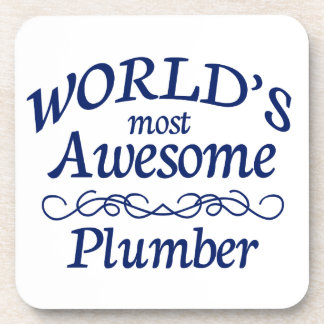 World's Most Awesome Plumber Beverage Coasters