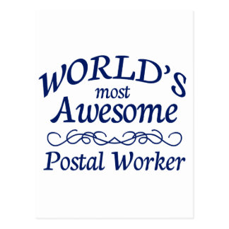 World's Most Awesome Postal Worker Post Card