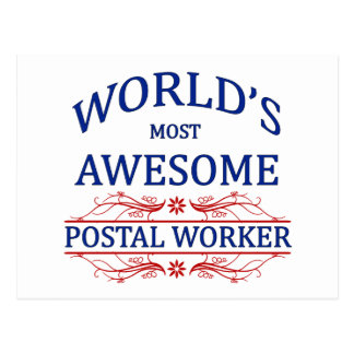 World's Most Awesome Postal Worker Post Cards