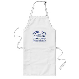 World's Most Awesome Preschool Teacher Apron