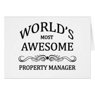 World's Most Awesome Property Manager Greeting Card