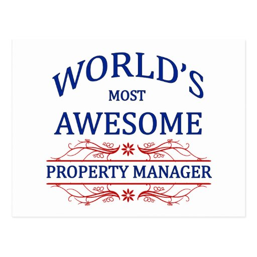 World's Most Awesome Property Manager Post Card