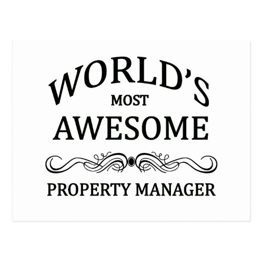 World's Most Awesome Property Manager Postcards