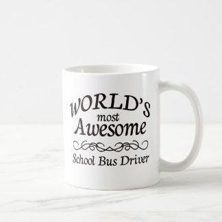 World's Most Awesome School Bus Driver Basic White Mug