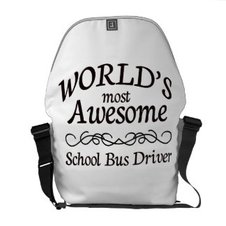World's Most Awesome School Bus Driver Messenger Bags