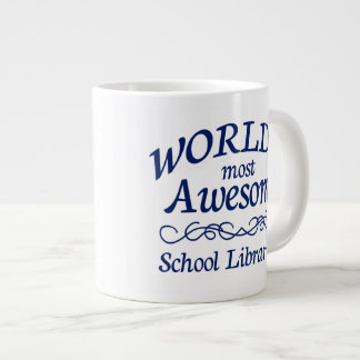 World's Most Awesome School Librarian Large Coffee Mug