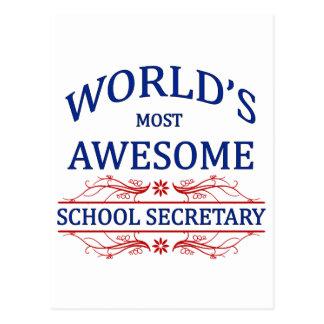 World's Most Awesome School Secretary Postcard