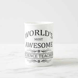World's Most Awesome Science Teacher Porcelain Mugs