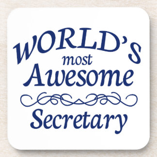 World's Most Awesome Secretary Drink Coasters