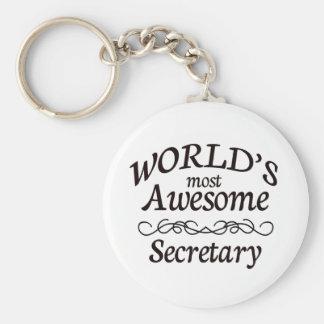 World's Most Awesome Secretary Key Ring