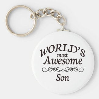 World's Most Awesome Son Key Ring