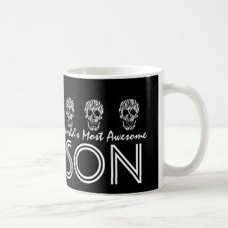 World's Most Awesome SON Zebra Skulls V04 Coffee Mug