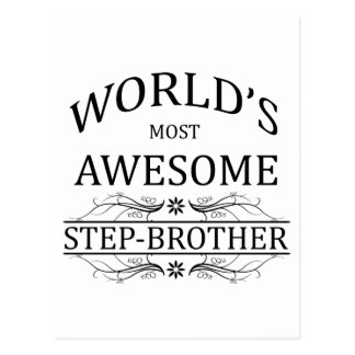 World's Most Awesome Stepbrother Postcard