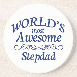 World's Most Awesome Stepdad Beverage Coasters
