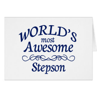 World's Most Awesome Stepson Greeting Card