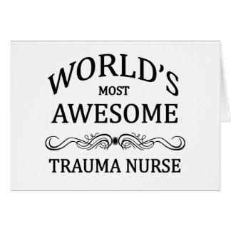 World's Most Awesome Trauma Nurse Cards