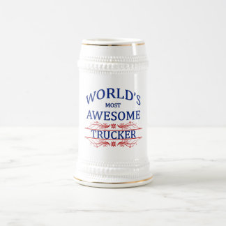 World's Most Awesome Trucker Beer Stein