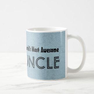 World's Most Awesome UNCLE Blue Grunge Basic White Mug